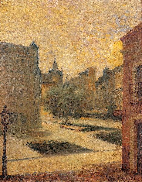 Dario de Regoyos, Plaza de Bilbao, 1892