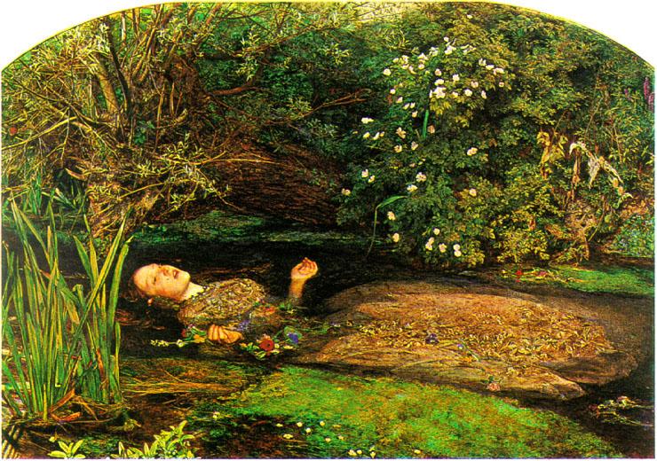 Ofelia, Millais