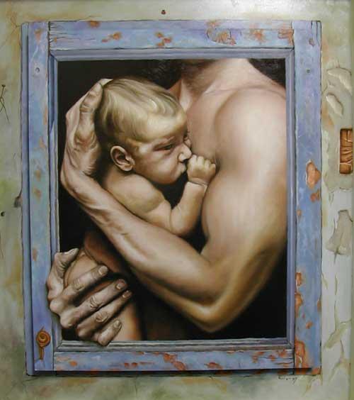 Abrazado, J. Enrique Gonzalez