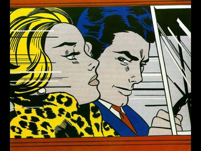En el coche, Roy Lichtenstein