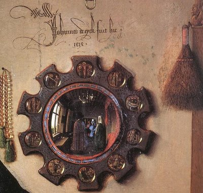 Van Eyck, Arnolfini, detalle