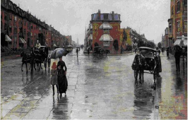 Día lluvioso, Childe Hassam
