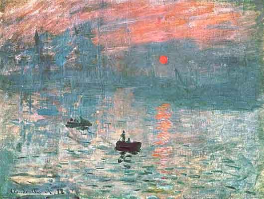 Monet, Impresion, atardecer, 1872