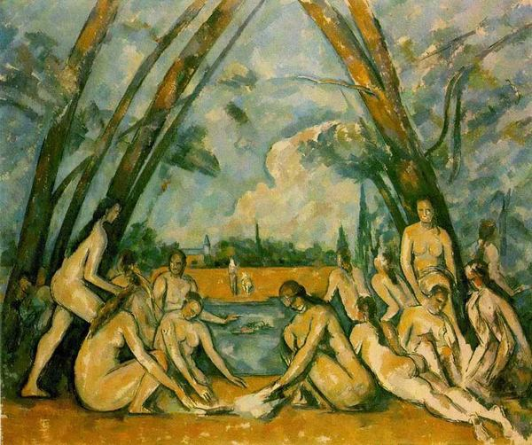 La grandes bañistas, Cézanne