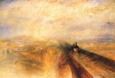 "1844 Turner ""Rain, steam and speed"""