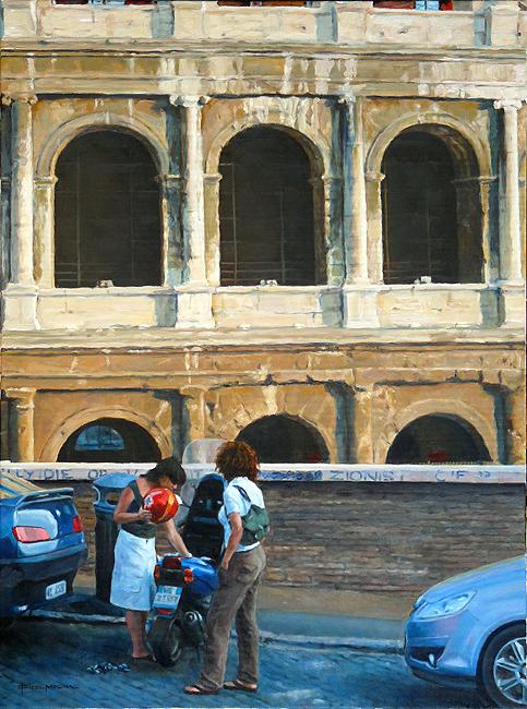 Aparcando frente al Coliseo, Fidel Molina
